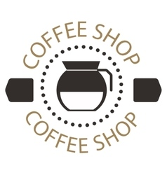 Coffee shop sign cafe symbol badge vector image