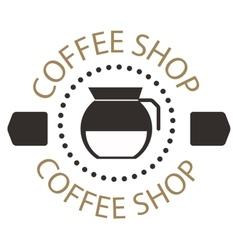 Coffee shop sign cafe symbol badge vector image