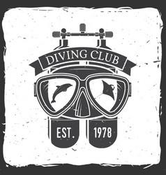 Diving club vector