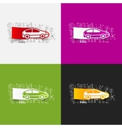 Drawing business formulas car vector