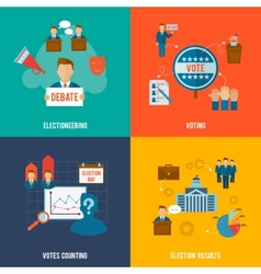 Election flat set vector