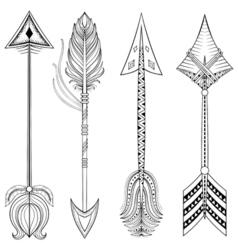 ethnic Arrows in zentangle designconcept Hand vector image vector image