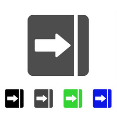 Expand menu right flat icon vector