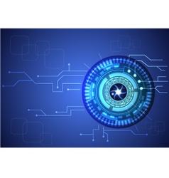 Eye technology vector