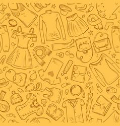 Fashion clothes banner seamless background vector