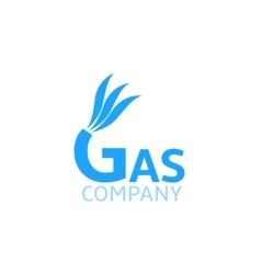Gas Company logo vector image