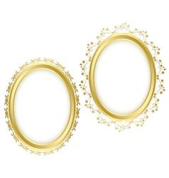 golden beautiful decorative frames vector image