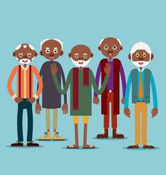 group of elderly afro american men vector image
