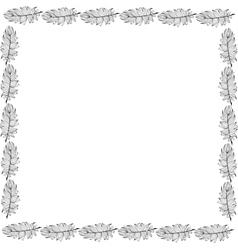 High quality original fram with feathers for vector image