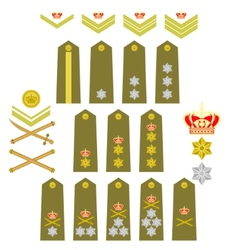 Insignia of the Royal Greek Army vector image vector image