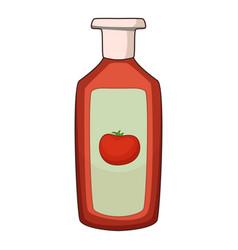 ketchup icon cartoon style vector image