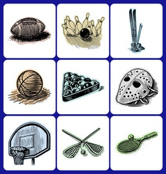 leisure activity icons vector image