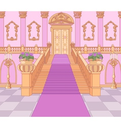 Luxury staircase in magic palace vector