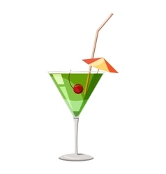 Martini glass of cocktail icon isometric 3d style vector