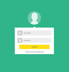modern login user interface design with form vector image vector image