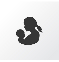 Mother icon symbol premium quality isolated baby vector