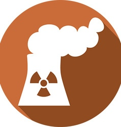 Nuclear power plant icon vector