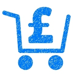 Pound checkout grainy texture icon vector