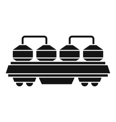 Rail wagon for cement icon simple style vector