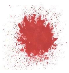 Red watercolor blots vector