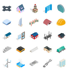 Ride icons set isometric style vector
