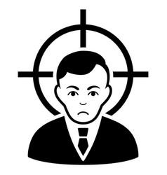 Sad victim businessman black icon vector