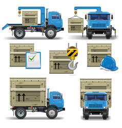 Shipment icons set 7 vector