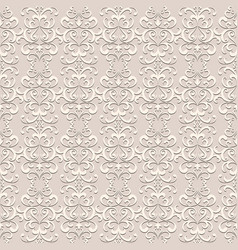 vintage lace seamless pattern vector image vector image