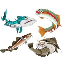 Four fish vector