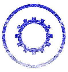 gear grunge textured icon vector image