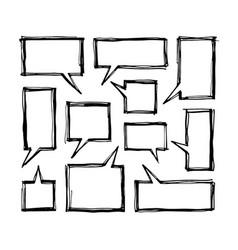 square speech bubbles vector image