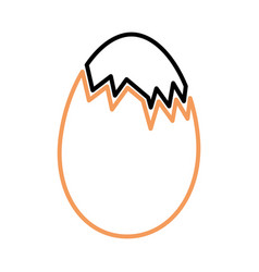 Chicken eggs isolated icon vector