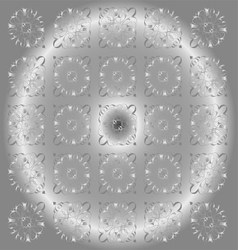 Beautiful Circle Gray Light Floral Background vector image