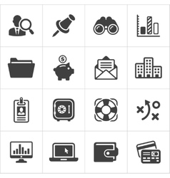 Trendy business and economics icons set 3 vector