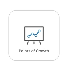 Points of growth icon business concept flat vector