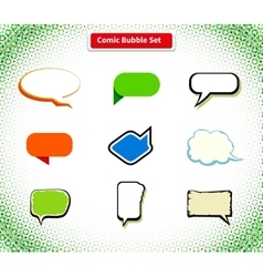 Comic bubble set icon flat style design vector