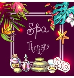 Spa therapy background vector