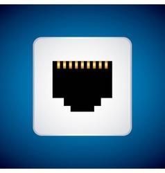 Wifi cable icon Internet design graphic vector image