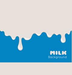 background with flow milk vector image