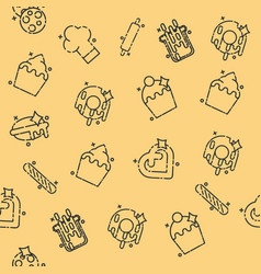Bakery icons set pattern vector
