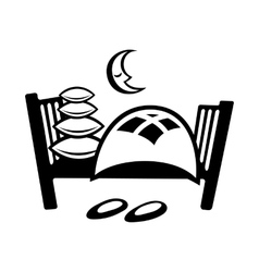 Bed simple icon vector image