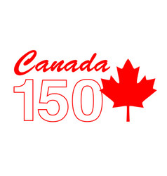 Canada 150 birthday graphic vector
