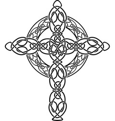 celtic cross2 vector image vector image