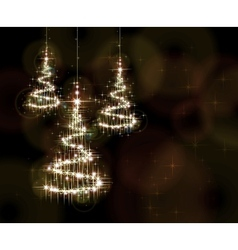 Christmas Background with trees vector image