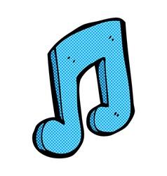 comic cartoon musical note vector image
