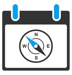 Compass calendar day toolbar icon vector