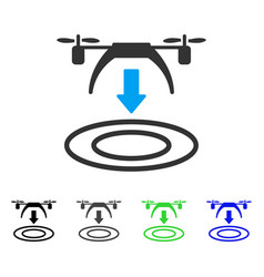 Copter arrival flat icon vector