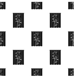 Curtains single icon in black stylecurtains vector