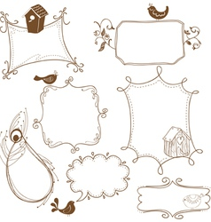 cute doodle frames vector image vector image