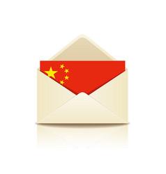 envelope letter flag of china vector image vector image